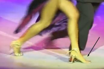 В одной туфельке
